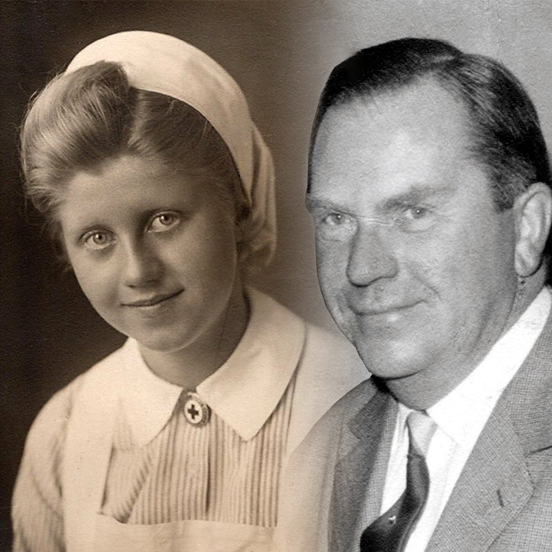 Eltern – Anneliese und Ernst Schleicher